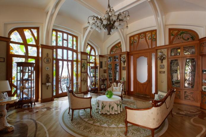 murs beiges dans le salon