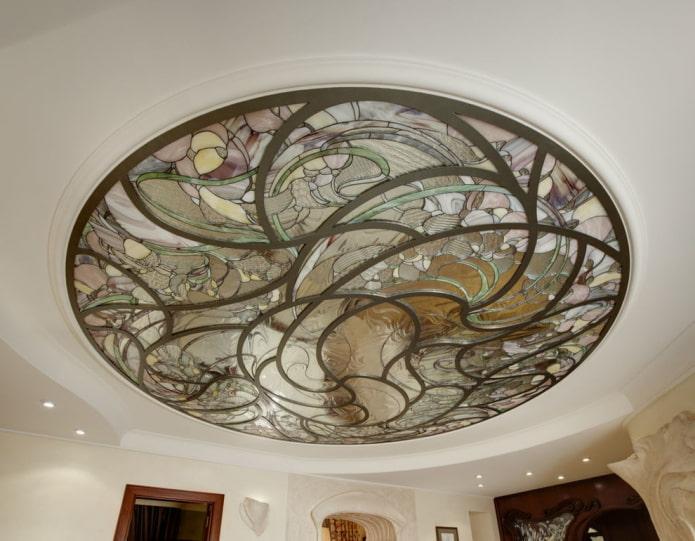 Plafond vitrail