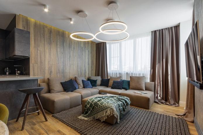plafond en plaques de plâtre à un niveau