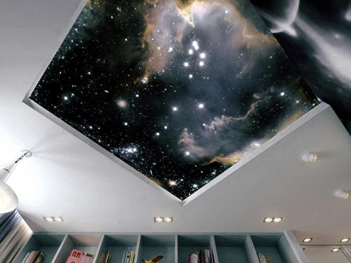 plafond à motifs