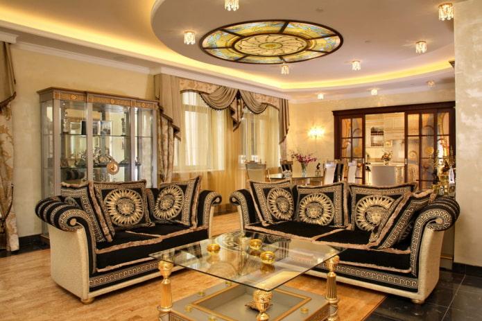 plafond en placoplâtre dans un style classique