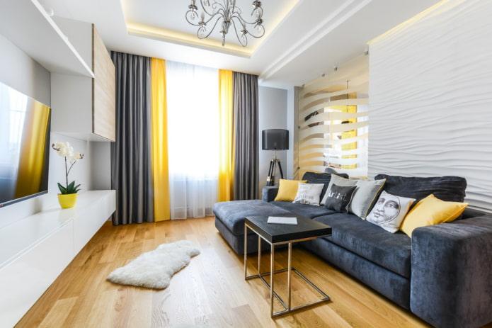 plafond en plaques de plâtre dans un style moderne