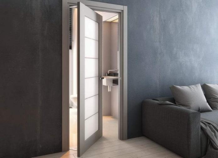 portes rotatives dans un intérieur de style loft