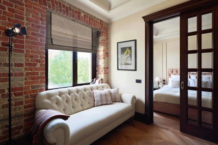 portes coulissantes à l'intérieur dans le style loft