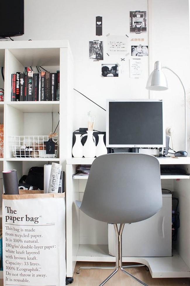 Espace de travail lumineux avec mobilier minimaliste