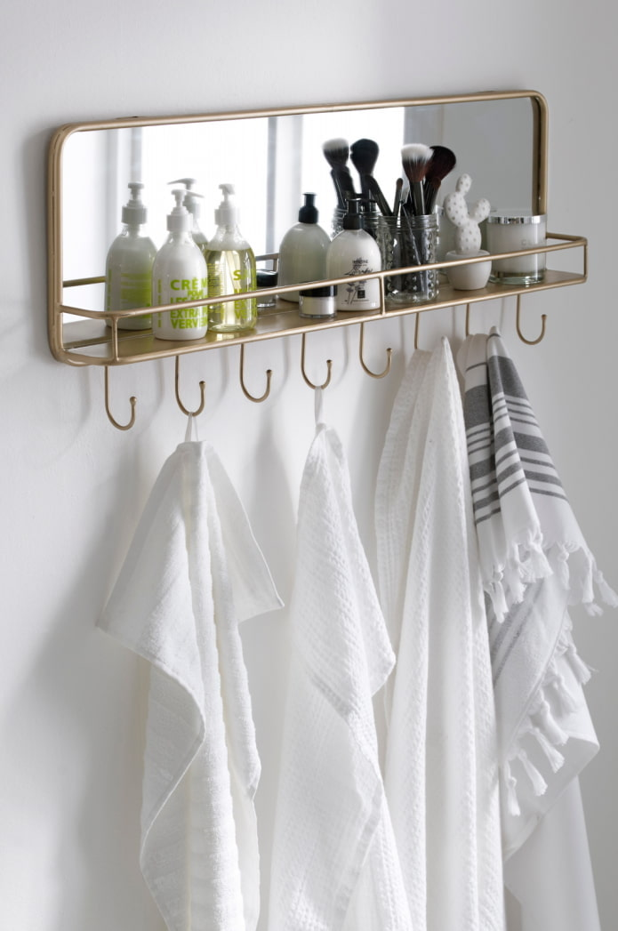 Cintre-étagère-miroir