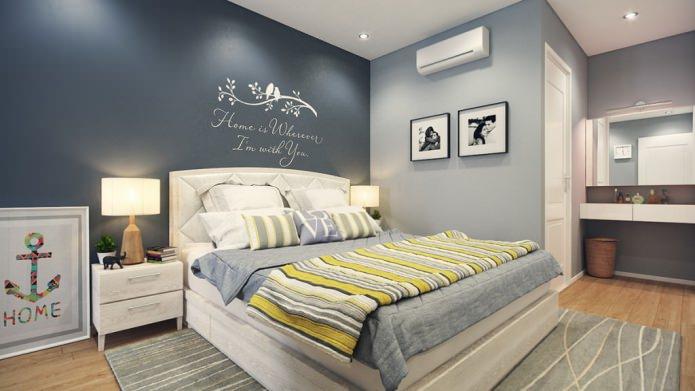 peindre les murs de la chambre en gris