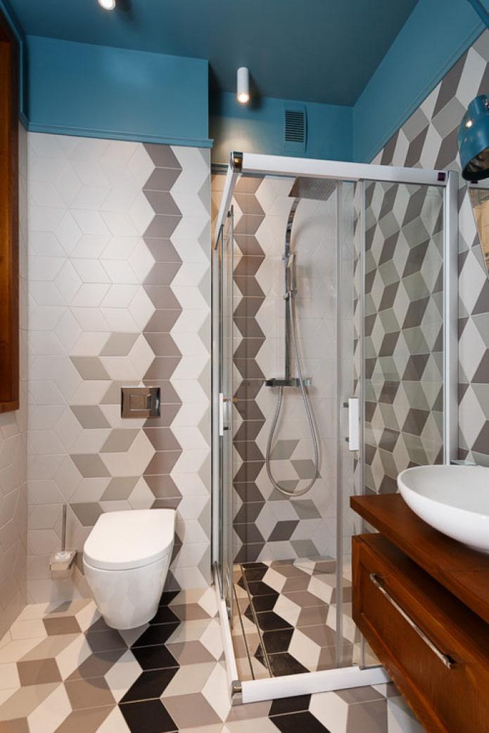 carrelage 3d dans la salle de bain