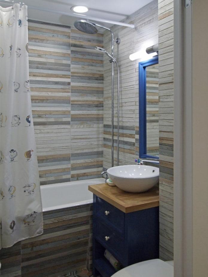 meuble de salle de bain bleu