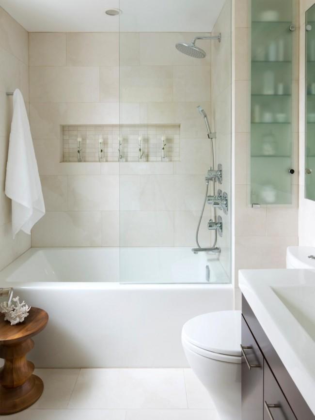 Une salle de bain combinée aidera à augmenter l'espace