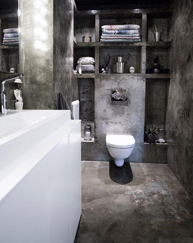 Salle de bain style loft