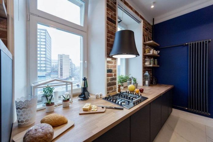 deux fenêtres dans la cuisine