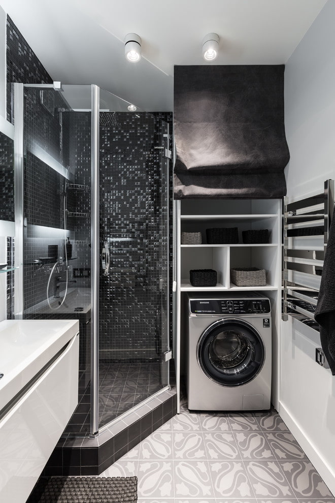 machine à laver dans le placard