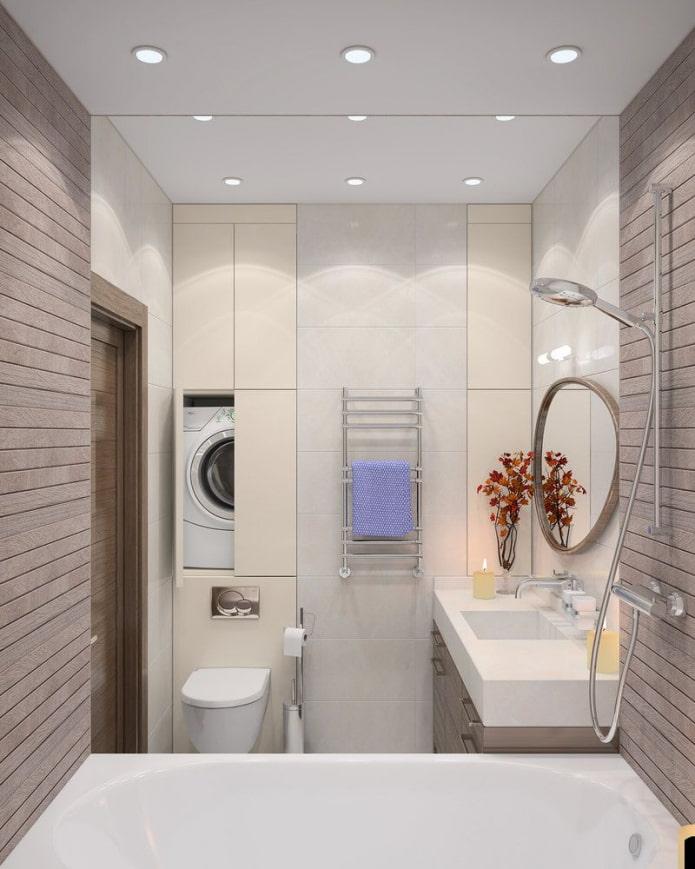 la machine est installée au dessus des toilettes