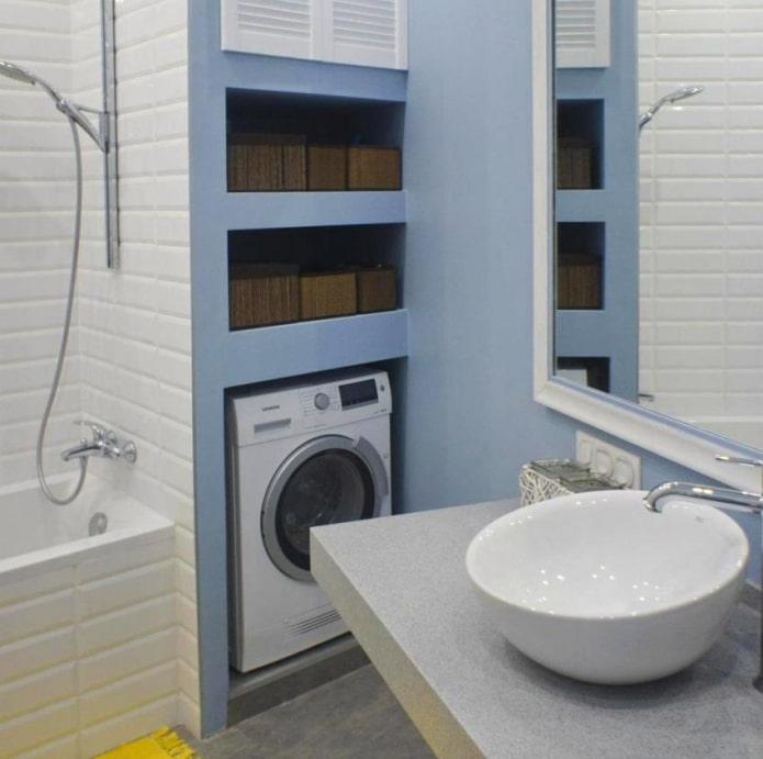 machine à laver dans une niche