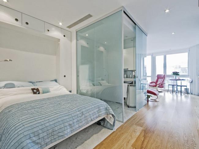 Le secret du succès d'un petit appartement est son zonage compétent.