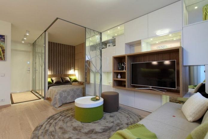 l'intérieur d'un appartement d'une pièce 35 carrés