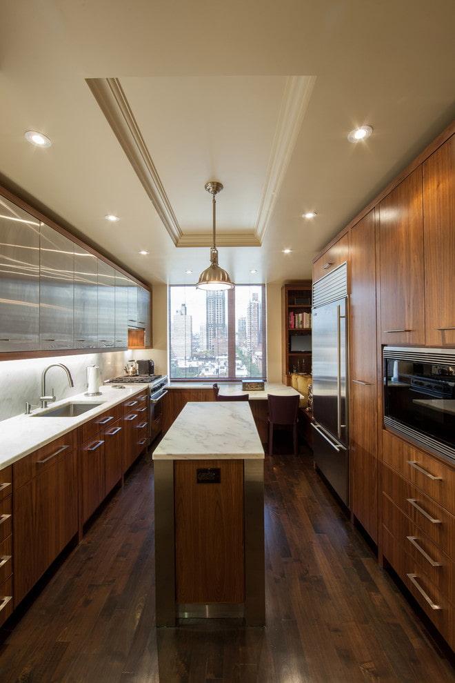 aménagement d'un espace cuisine étroit