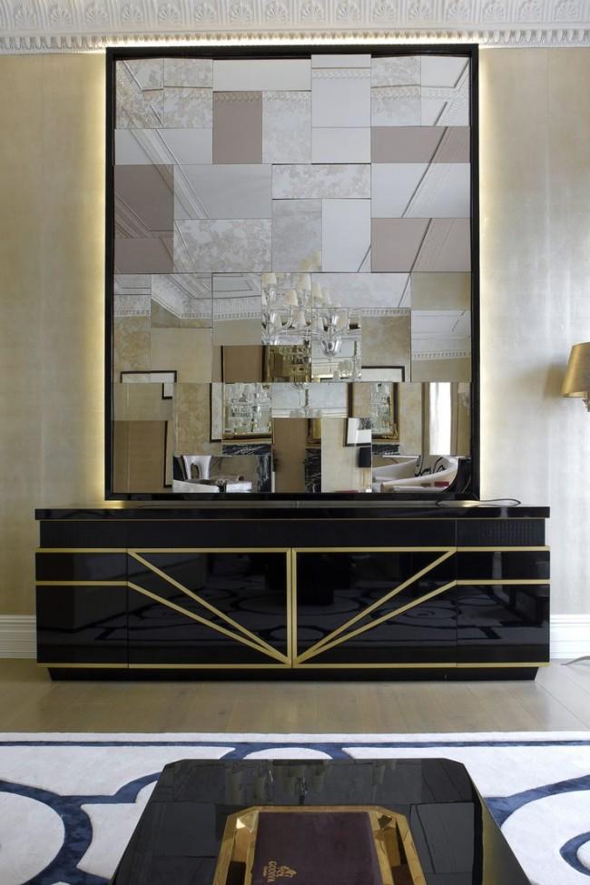 Ce sont les styles Art Nouveau et avant-gardistes qui répondent le plus volontiers à l'utilisation d'une variété de miroirs inhabituels.