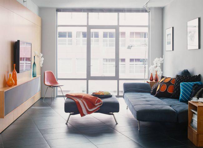 Chambre-salon 18 m²  m. dans un style moderne