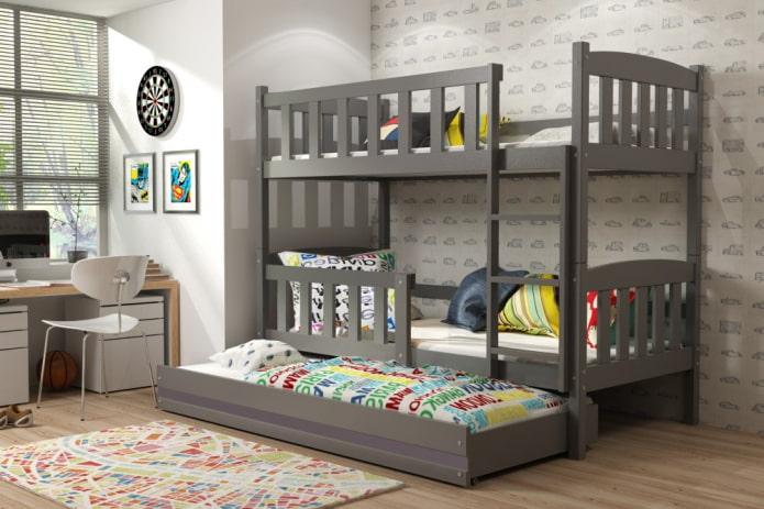 aménagement d'une chambre pour trois enfants
