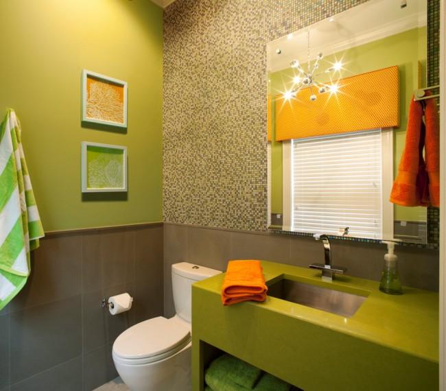 Il est possible de combiner plusieurs matériaux de finition dans une même salle de bain, des plus chers aux plus simples, tout en dépensant moins d'argent