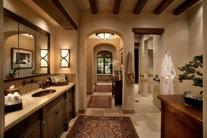style italien dans la salle de bain