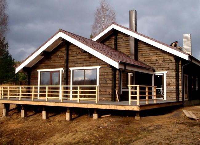 Maisons en bois à partir de bois profilé.  La fondation, peu importe laquelle (colonne, ruban) pour une maison en bois profilé sera moins chère