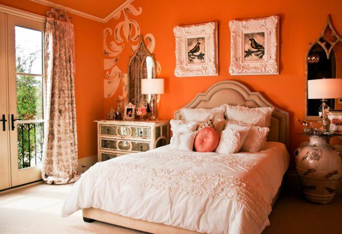 orange dans la chambre