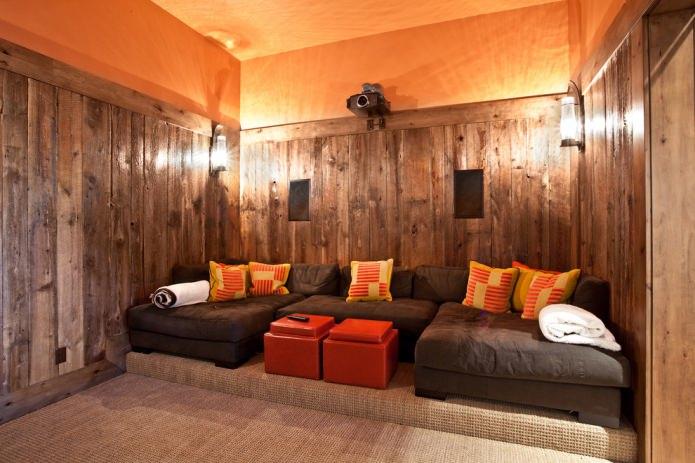 plafond orange
