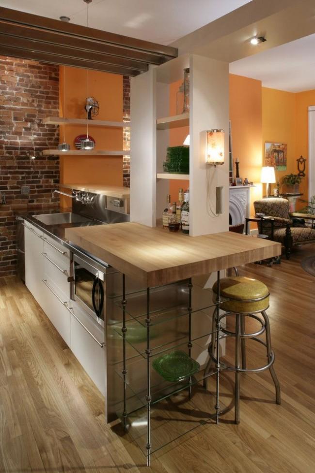 Kitchen-studio vous permet d'augmenter la taille de la cuisine en raison de l'absence de murs