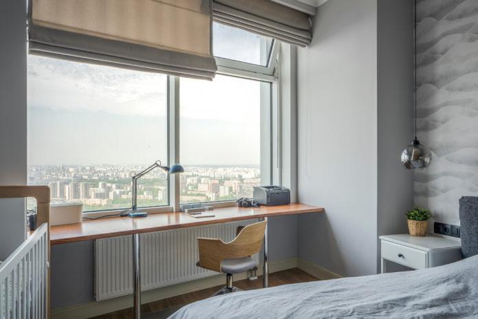 appui de fenêtre de bureau à l'intérieur