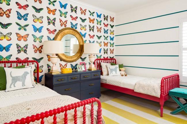 Chambre spacieuse et lumineuse pour deux filles