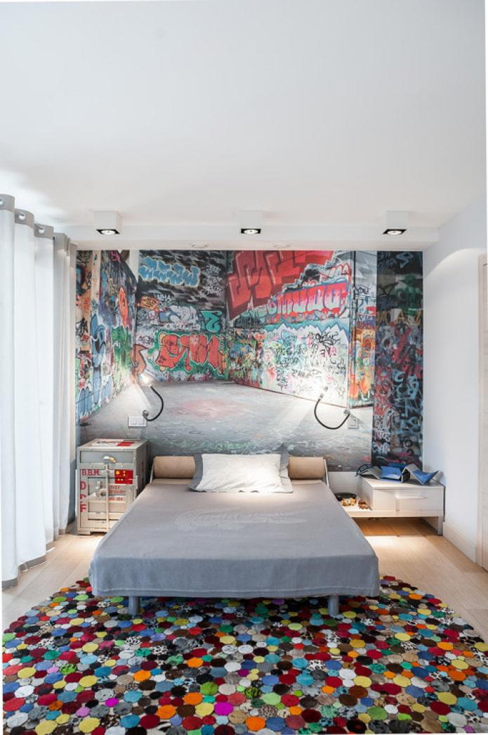 graffitis à l'intérieur