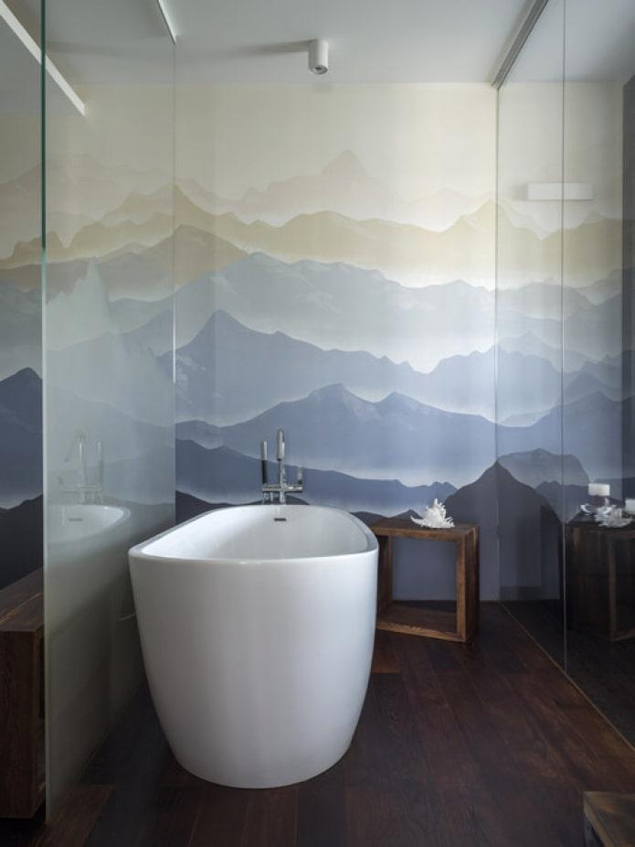dessin dans la salle de bain