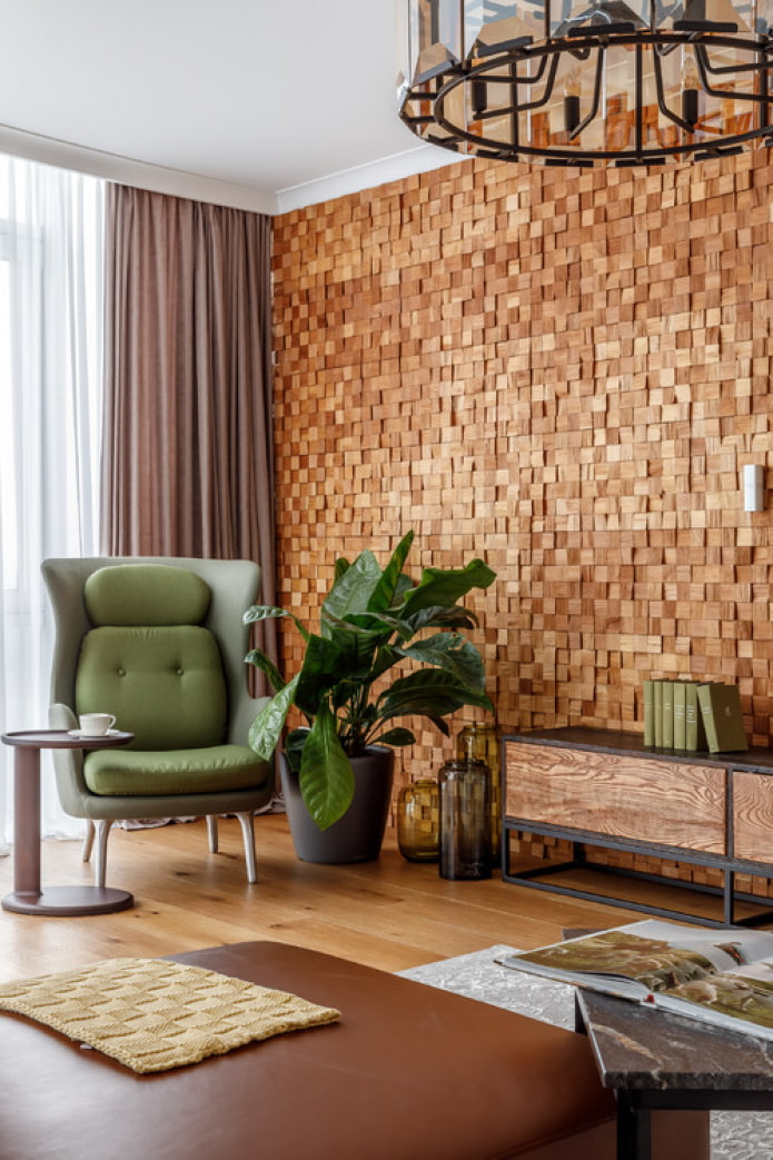 petits blocs de bois pour les murs