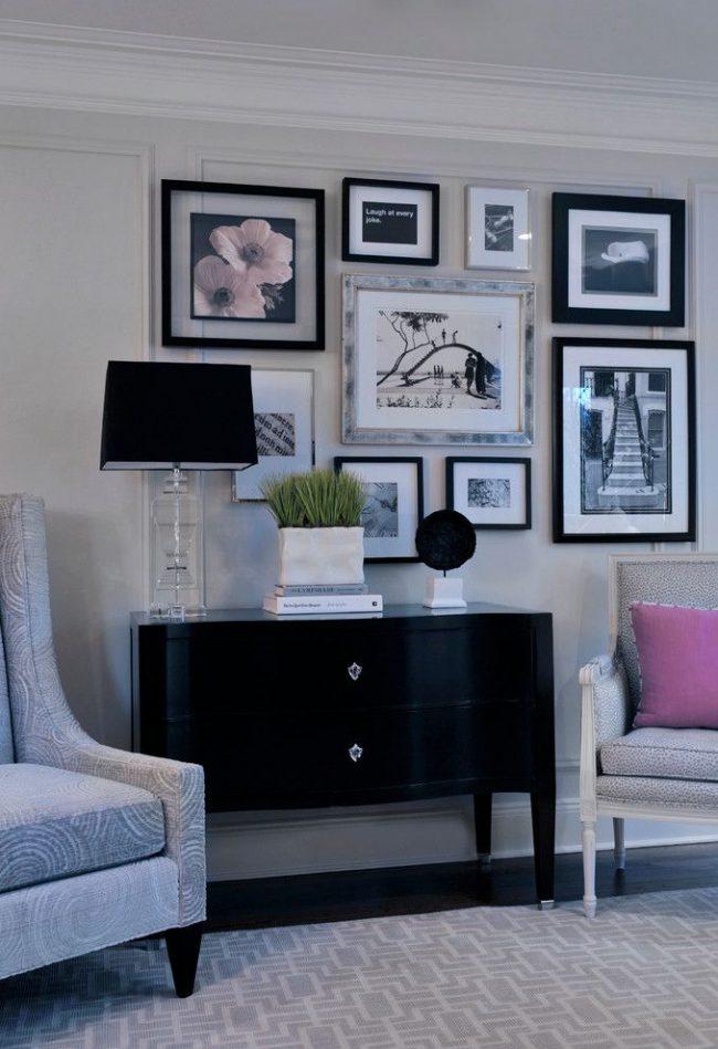 Photos de lunette contrastées : montures fines et épaisses en bois noir, montures fines et épaisses en métal gris clair