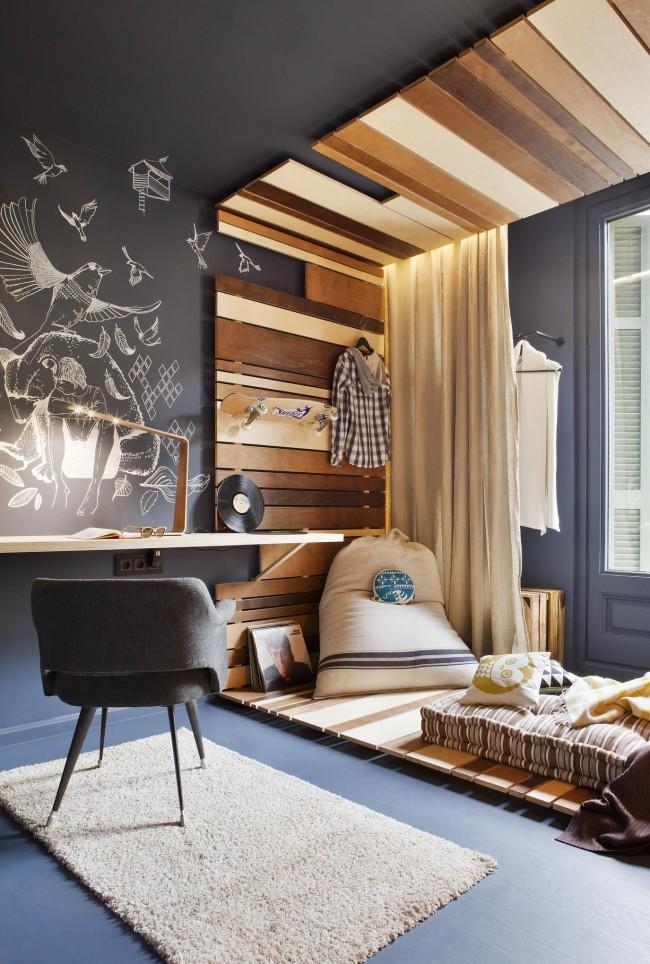 Zonage d'une chambre d'enfant avec un étage