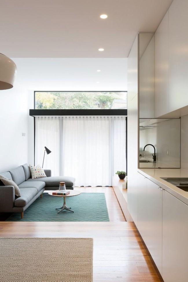 Un revêtement de sol bien choisi contribuera également à agrandir l'espace.