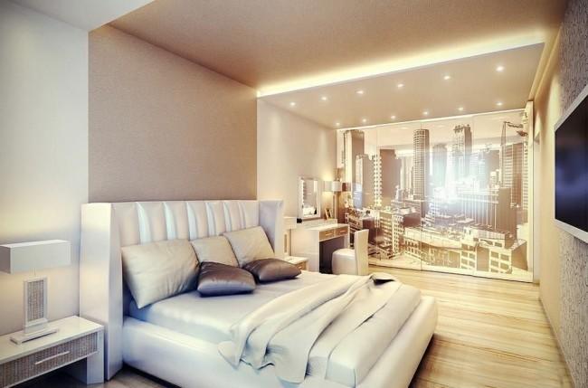 Dans cet agencement de meubles, il est possible d'installer des accessoires supplémentaires nécessaires