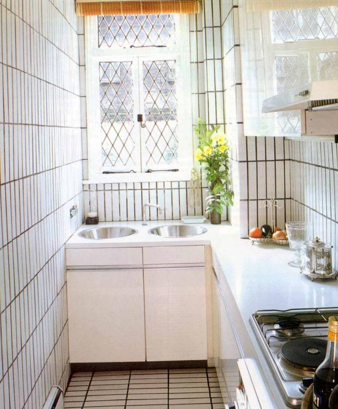 murs de cuisine en carrelage