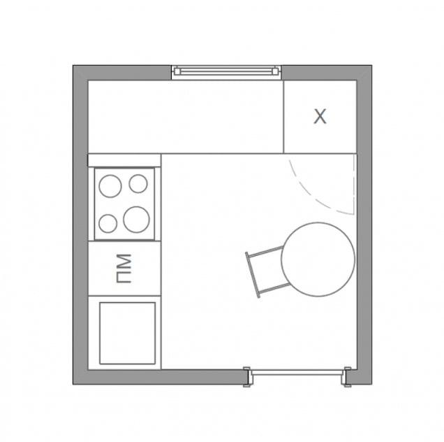plan de cuisine 4 carrés