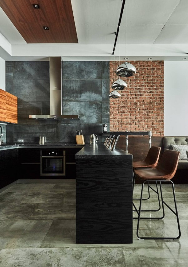 cuisine-salon style loft
