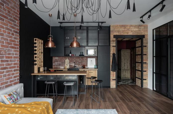 studio spacieux de style loft