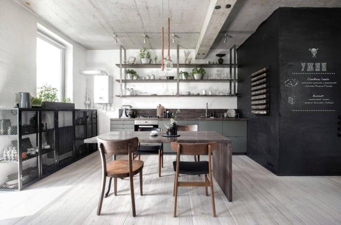 meubles de cuisine de style loft