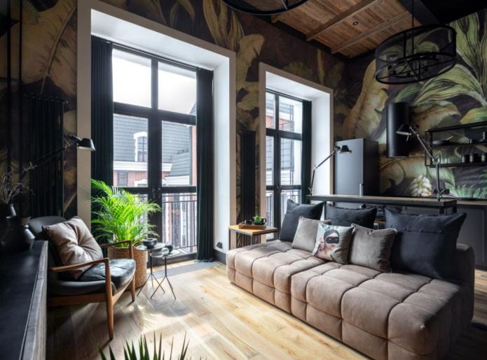 papier peint de style loft