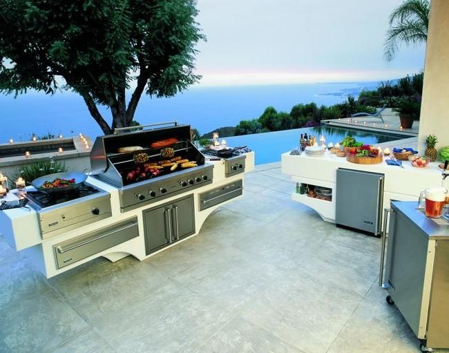 Barbecue combiné pour chalets d'été