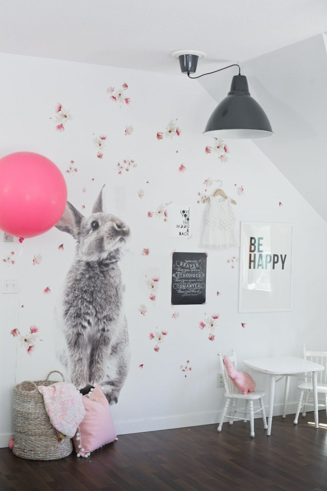 Les stickers muraux sont l'un des types de décoration de chambre d'enfant