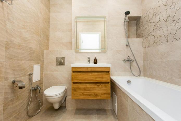 Minimalisme à l'intérieur de la salle de bain