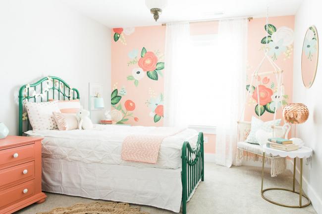 Chambre aux couleurs délicates